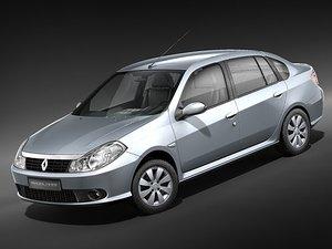 3d model renault symbol thalia sedan