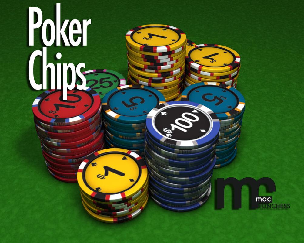 stacks chips 3d model