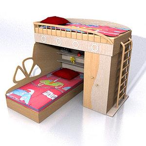 furniture beds camas 3d model