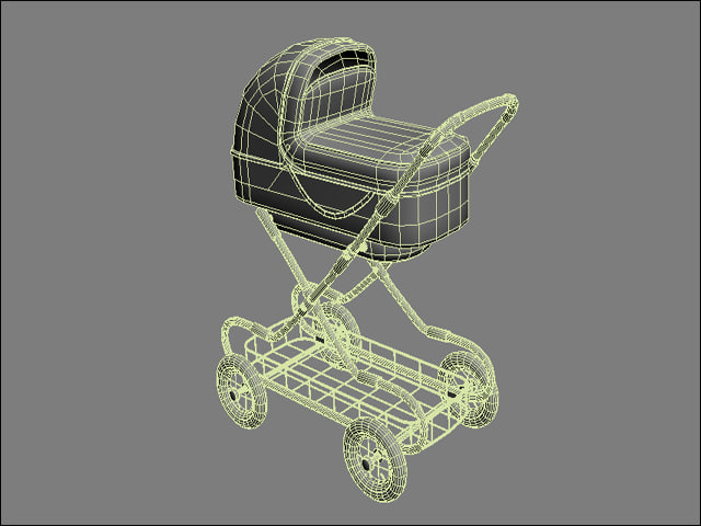 perambulator pram 3d model