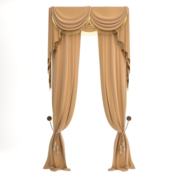 qualitative curtain 3d model