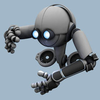 Worker Robot Rigged (Character Studio)