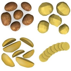 potato set collections 3d lwo