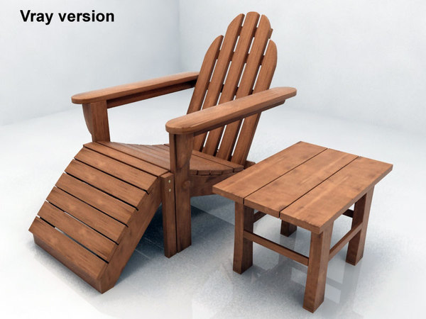adirondack chair table 3d 3ds