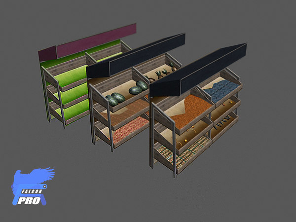 fruit stand 3d max