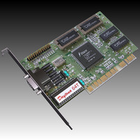 vintage pci video card 3d max