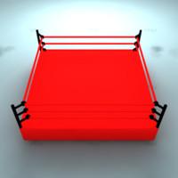 3d model wrestling ring