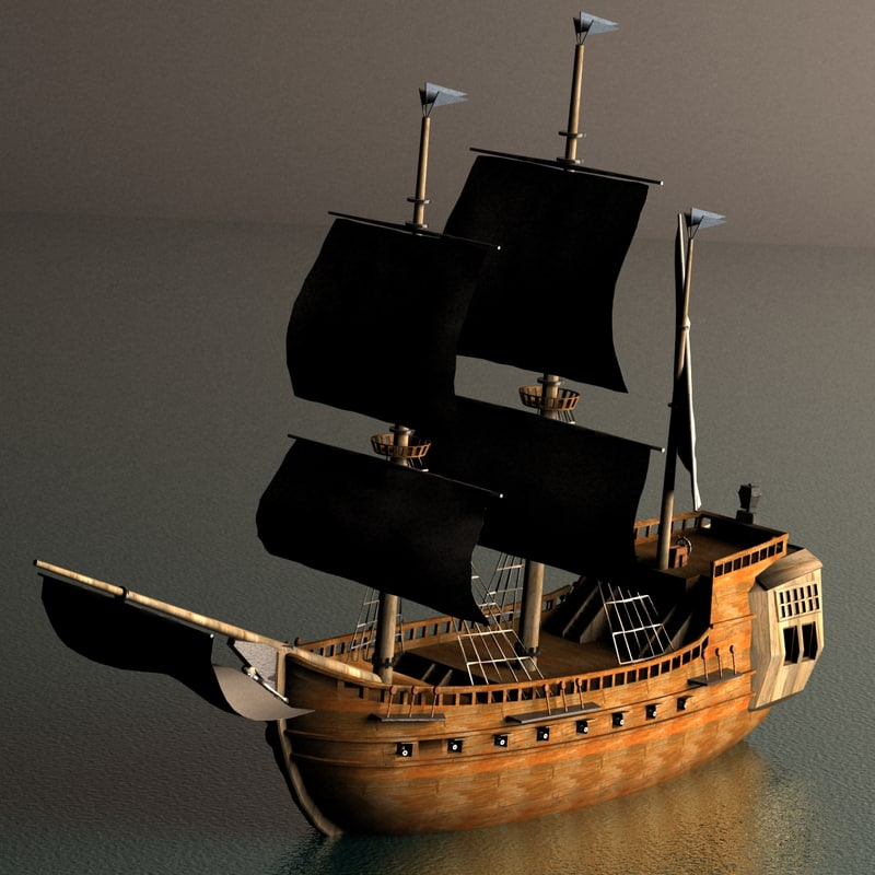 3d model pirate galleon