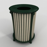 3d model outdoor trash