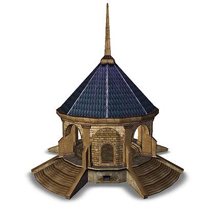 3d temple fantasy sanctuary
