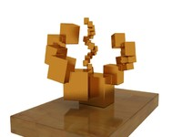 abstract boxes 3d model