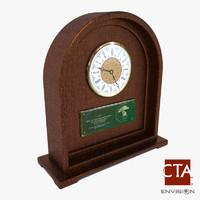 3d office desk clock model
