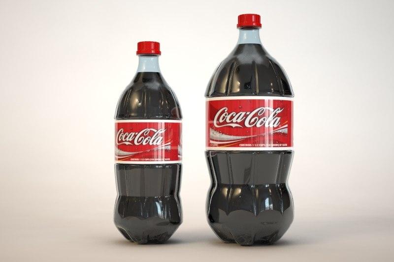 3dsmax 1 liter 2 bottles