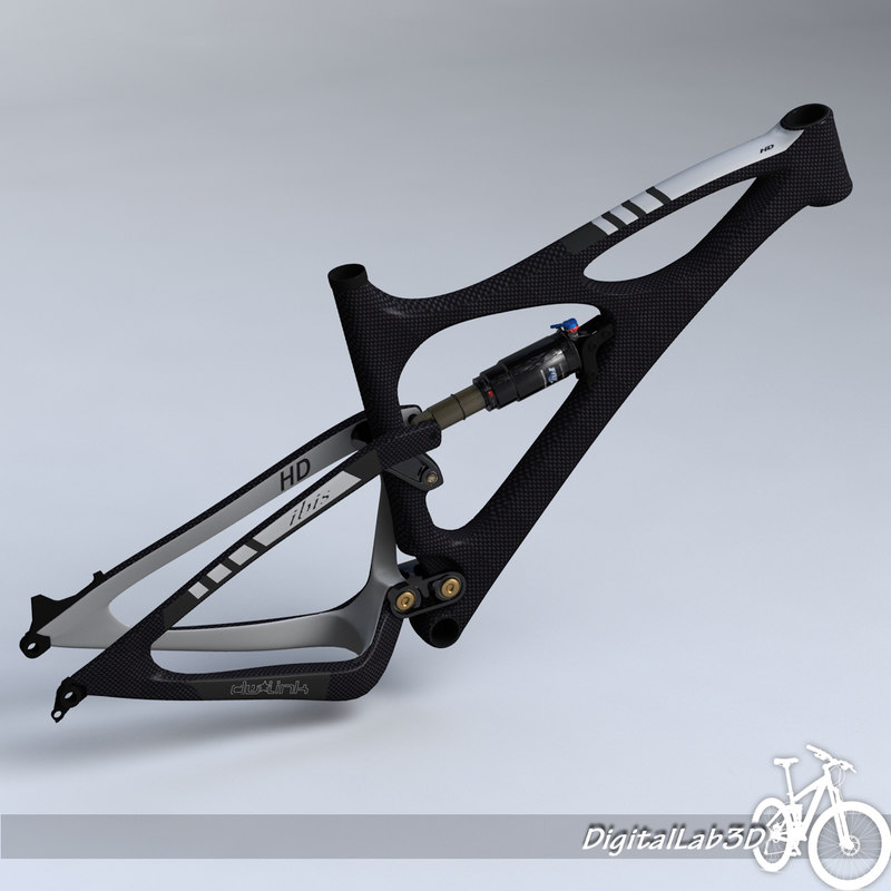 3d model bike frame mojo hd
