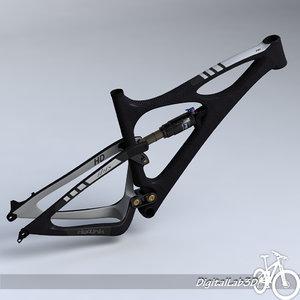 3d model bike frame mojo hd