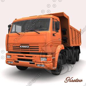 dumptruck kamaz 6520 3d model