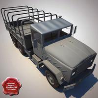 3d model m923 transport truck v6