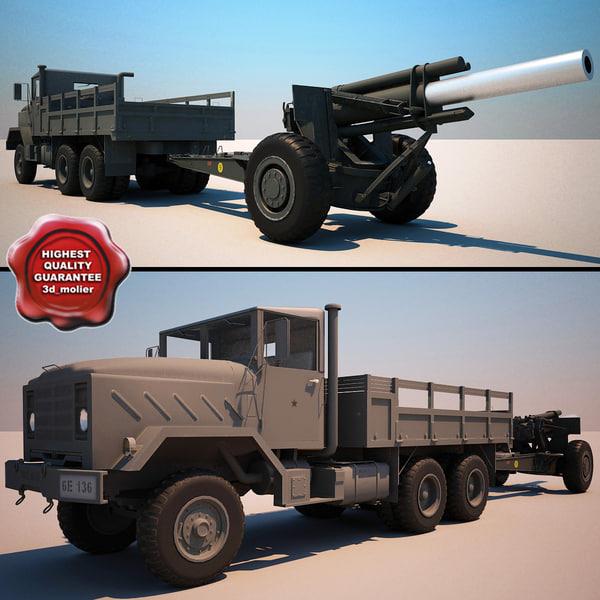 3d m939 truck m114a1 155