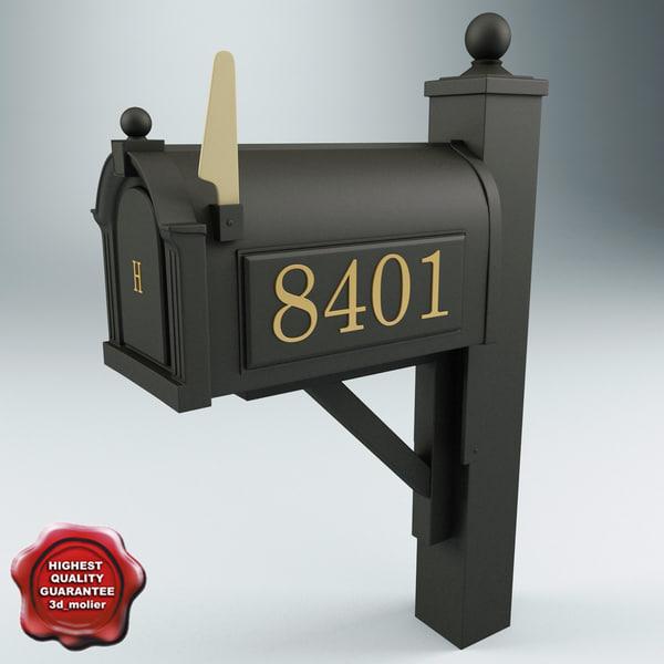 mailbox modelled 3d model