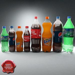 plastic drinks 3d model