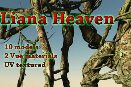 branch lianas trees 3d model