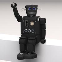 classic robot lightwave 3d model