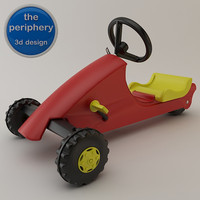 plastic tricycle toy 3d model