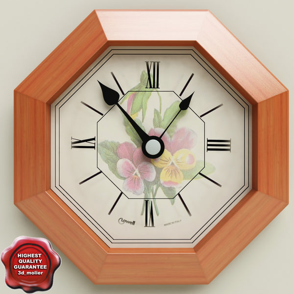 wall clock v3 3d 3ds
