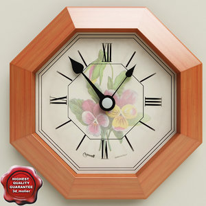 wall clock v3 3d 3ds
