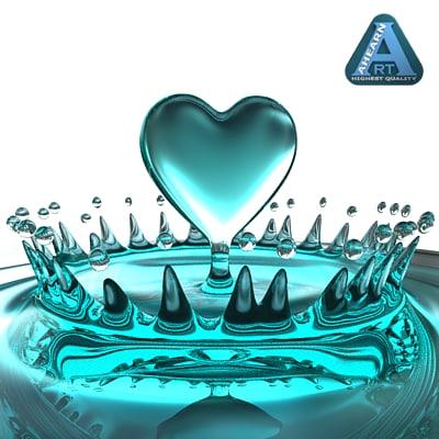 heart shaped splash 3d model