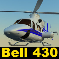 obj bell 430 helicopter