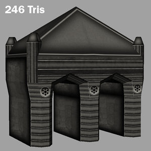 cemetery assets 1 3d model