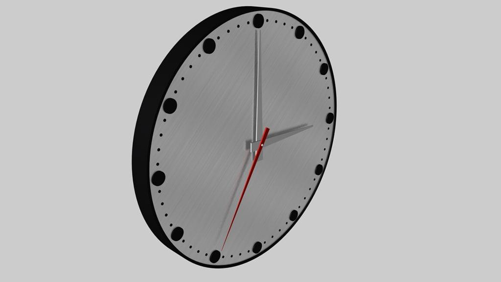 3ds max simple clock