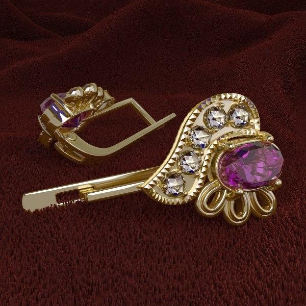 3d model earrings originally