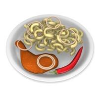 3d pasta chicken model