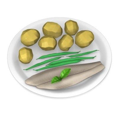 3d model potatoes food