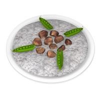 3d rice food model