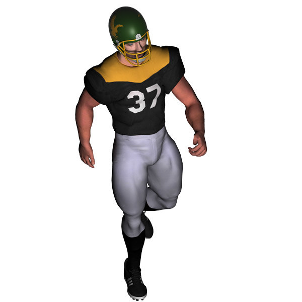 american player footballer 3d max