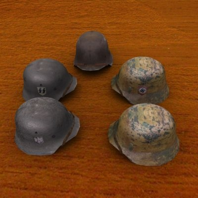 ww2 german stahlhelm 3d model