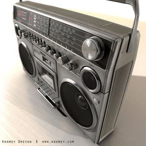 panasonic boomboxes player 3d model