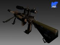 sniper riffle 2020 3d model