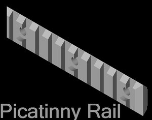 free picatinny rail 3d model