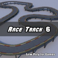 Low Polygon Race Track 6