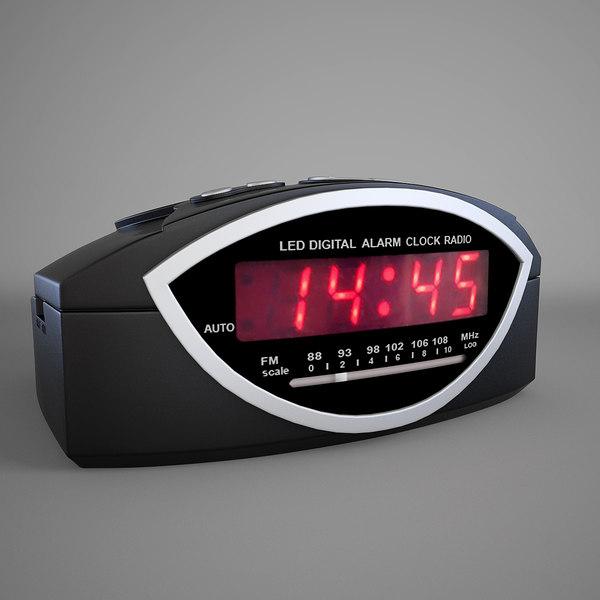 clock radio 3d model
