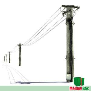 power line 3d model
