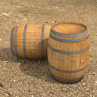wine barrel 3d model