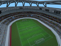 soccer field stadium 3d model