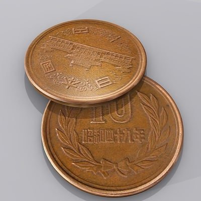 3d japanese yen