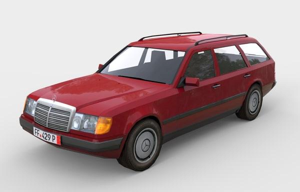 3d model w124 touring 300d