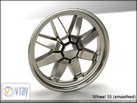 wheel 15 3d model